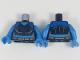 Part No: 973pb3023c01  Name: Torso Female Blue Shoulders, Dark Blue Snowflake Symbol Pattern / Dark Azure Arms / Dark Azure Hands