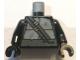 Part No: 973pb3147c01  Name: Torso Turtle Shell with Dark Bluish Gray Horizontal and Diagonal Belt Pattern / Black Arms / Black Hands