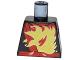 Part No: 973pb3200  Name: Torso Ninja Robe with Red Belt and Sash and Spinjitzu Fire Burst Pattern