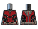 Part No: 973pb3224  Name: Torso Ant-Man Dark Red Body Suit with Silver Trim Pattern