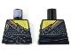 Part No: 973pb3260  Name: Torso Ninjago Chain Mail, Ripped Shirt, and Black Sash Pattern