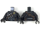 Part No: 973pb3275c01  Name: Torso Armor with Gold Owl Logo, Dark Brown Bandolier and Pouches, 3 Silver Daggers Pattern / Black Arms / Black Hands