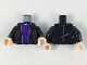 Part No: 973pb3315c01  Name: Torso Robe over Dark Purple Vest with 7 Buttons Pattern / Black Arms / Light Flesh Hands