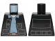Part No: 973pb3414  Name: Torso SW Vest with Pockets and Sand Blue Shirt with Collar Pattern (Rebel Fleet Trooper)