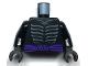 Part No: 973pb3415c01  Name: Torso Ninjago Skeleton Ribs Gray and Dark Purple Waist Sash Pattern and Gray Muscles Outline on Back / Black Arms / Black Hands