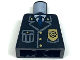 Part No: 973px431  Name: Torso Police Jacket with Pocket, Gold Badge and Blue Tie Pattern