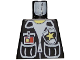 Part No: 973px67  Name: Torso Police Vest, White Shirt, ID, Yellow Star Badge Pattern