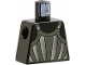Part No: 973px90  Name: Torso Castle Fright Knights Dark Gray, Silver Striped Armor Pattern