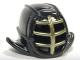 Part No: 98130pb05  Name: Minifigure, Headgear Helmet Ninjago Kendo with Gold Grille Mask Pattern