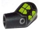 Part No: 981pb019  Name: Arm, Left with Lime Markings and Silver Circle and Lines Pattern
