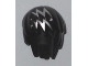 Part No: 99242pb001  Name: Minifig, Hair Layered with Silver Zigzag Streaks Pattern