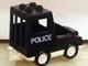 Part No: dupvan  Name: Duplo Van Paddy Wagon Type 1 with 'POLICE' Pattern