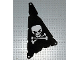 Part No: sailbb45  Name: Cloth Sail Triangular 15 x 22 Tattered with Skull and Crossbones Pattern
