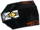 Part No: x224pb032  Name: Windscreen 8 x 6 x 2 Curved with Orange Cracks, Gold Ninjago Earth Emblem, Pipes and Cracked Armor Plates Pattern (Stickers) - Set 70733