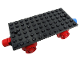 Part No: x487c01  Name: Train Base 6 x 12 with Wheels and Red and Blue Magnets