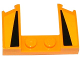 Part No: 11291pb02  Name: Wedge 3 x 4 x 2/3 Cutout with 2 Black Triangles on Bright Light Orange Background Pattern (Stickers) - Set 75909