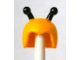Part No: 12892pb01  Name: Minifig, Headgear Cap, Insect with Black Antennae Pattern (Bumblebee)