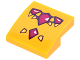 Part No: 15068pb070  Name: Slope, Curved 2 x 2 No Studs with Magenta Geometric Dragon Scales Pattern (Sticker) - Set 41175
