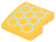 Part No: 15068pb100  Name: Slope, Curved 2 x 2 No Studs with Yellow, Medium Azure and White Honeycomb Pattern (Sticker) - Set 41234