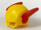 Part No: 15554pb03  Name: Minifig, Headgear Mask Reverse Flash with Red Wings Pattern
