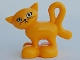 Part No: 2032c01pb02  Name: Duplo Cat Standing Turned Head with Large Eyes with Eyelashes Pattern