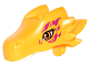 Part No: 24196pb03  Name: Dragon Head (Elves) Upper Jaw with Orange Eyes and Magenta Swirls Pattern (Zonya)