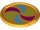 Part No: 27372pb04  Name: Duplo Utensil Disk with Magenta, Lime, and Medium Azure Pinwheel Pattern