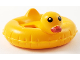 Part No: 28421pb03  Name: Minifigure, Utensil Swim Ring / Floatie Duck Inflatable with Black Eyes and Red Bill Pattern