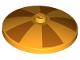 Part No: 3960pb053  Name: Dish 4 x 4 Inverted (Radar) with Five Orange Wedges Pattern