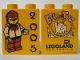 Part No: 4066pb209  Name: Duplo, Brick 1 x 2 x 2 with Halloween 2005 Brick or Treat Pattern (Legoland Logo)