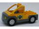 Part No: 47438c01pb02  Name: Duplo Truck Pickup Flatbed with Dark Bluish Gray Base with Tire and Tools Pattern