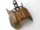 Part No: 57559pb01  Name: Bionicle Barraki Carapar Chest Cover, Marbled Trans-Black Pattern