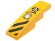 Part No: 61678pb086L  Name: Slope, Curved 4 x 1 No Studs with Black Danger Stripes, Panel and Chima Logo Pattern Model Left Side (Sticker) - Set 70014