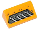 Part No: 85984pb042L  Name: Slope 30 1 x 2 x 2/3 with 4 Silver Cables Pattern Model Left Side (Sticker) - Set 70129