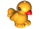 Part No: 98388pb01  Name: Bird, Friends / Elves with Red Beak and Black Eyes Pattern (Goldie)