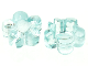 Part No: clikits024  Name: Clikits Icon, Flower 5 Petals 2 x 2 Small with Hole