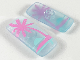 Part No: clikits087pb01  Name: Clikits Icon, Rectangle 3L with Pin, Palm Tree and Sunset Pattern