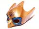Part No: 12549pb02  Name: Minifigure, Headgear Mask Bird (Eagle) with Yellow Beak and Blue Eye Circles Pattern