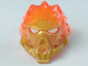 Part No: 24148pb02  Name: Bionicle Mask of Fire (Unity) with Marbled Trans-Neon Orange Pattern