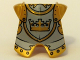 Part No: 2587pb22  Name: Minifigure, Armor Breastplate with Leg Protection, Fantasy Era Gold Knight Pattern