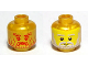 Part No: 3626bpb0517  Name: Minifigure, Head Dual Sided Beard with Stylized Face / Realistic Face Pattern - Blocked Open Stud