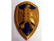 Part No: 50655pb02  Name: Large Figure Shield, 2 x 4 Brick Relief, Jayko Hawk with Dark Blue Pattern