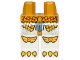 Part No: 970c01pb19  Name: Hips and White Legs with Gold Scaled Armor, Eagle Knee Covers and Yellow Talons Pattern