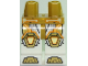 Part No: 970c01pb47  Name: Hips and White Legs with Metallic Gold, Orange, and Yellow Trim Lines, Knee Pads, and Sandals Pattern