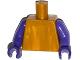 Part No: 973c66  Name: Torso Plain / Dark Purple Arms / Dark Purple Hands