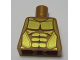 Part No: 973pb2210  Name: Torso Armor with Gold Plated Muscles Outline Pattern (Flying Warrior)
