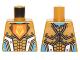 Part No: 973pb2242  Name: Torso Nexo Knights Armor with Orange Emblem with King Pattern