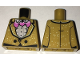 Part No: 973pb2540  Name: Torso Jacket with White Speckles over Ruffled Shirt, Pink Bat Bow Tie, Two Black Buttons Pattern