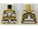 Part No: 973pb3261  Name: Torso Ninjago Armor White and Gold with White Sash Pattern
