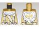 Part No: 973pb3295  Name: Torso Ninjago Cape, Suspenders with Dragon Clasps, Dragon Logo on Back Pattern